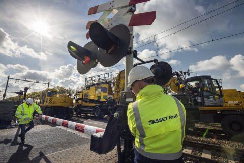 Werkzaamheden in Deurne, Asset Rail Foto: Sjef Prins - APA Foto