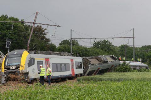 Ontsporing NMBS trein Belgie