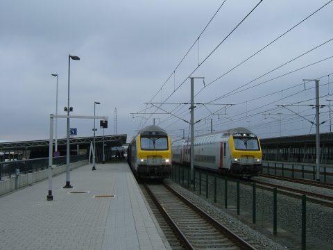 Station Noorderkempen op de HSL-Zuid in België