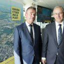 René de Vries en Ahmed Aboutaleb openen het Haven Cyber Meldpunt, foto: Marc Nolte