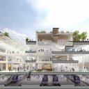Het ontwerp voor het nieuwe Gare du Nord in Parijs, Frankrijk. Bron: SNCF
