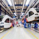 De onderhoudswerkplaats van Stadler waar Arriva-treinen worden onderhouden