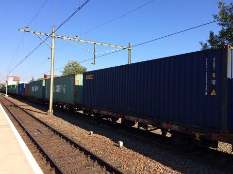 Lange goederentrein Tilburg