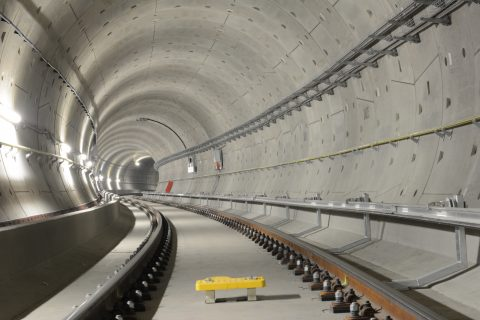 Een balise in de tunnel van de Noord/Zuidlijn
