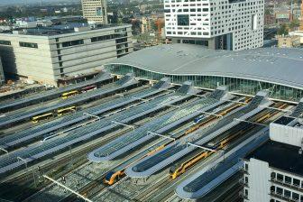 Treinen op station Utrecht, foto: NS