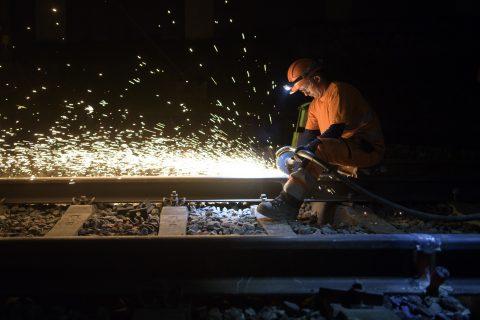 Werkzaamheden aan het spoor. Bron: SBB