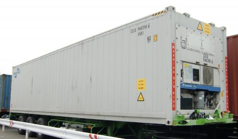 Een reefer-container in Japan