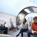 Het interieur van een hyperloop-capsule, bron: Hardt Hyperloop en UNStudio