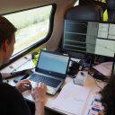 Experts van Ricardo Certification voeren proeven uit met de remvoering van de VIRM 2/3-dubbeldekkers van NS