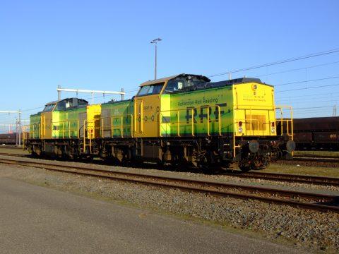 De proef op de Betuweroute wordt uitgevoerd met een BR203-locomotief van Rotterdam Rail Feeding
