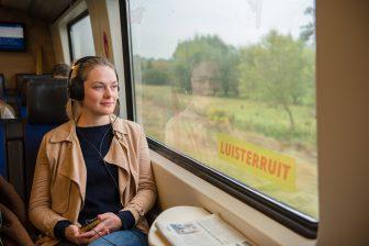 DDW Experience train, Podcast Luisterruit. Fotograaf: Maaike Poelen