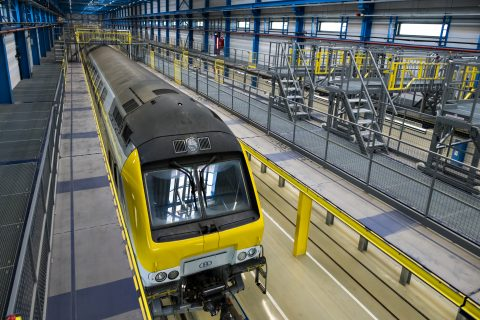 Nieuwe werkhal op tractiewerkplaats Hasselt. Foto: NMBS