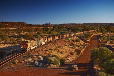 Een trein van BHP Billiton Ltd
