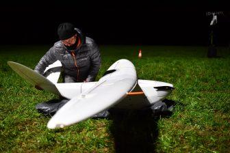 Nachtvlucht van Infrabel met een drone