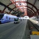 Skånetrafiken trein op station Malmö, Zweden