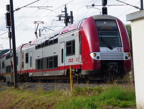 Een trein in Luxemburg, foto: Pixabay