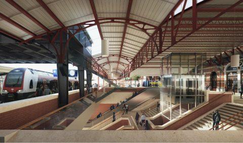 Ontwerp nieuw station Groningen, strukton, bron: Groningen Spoorzone