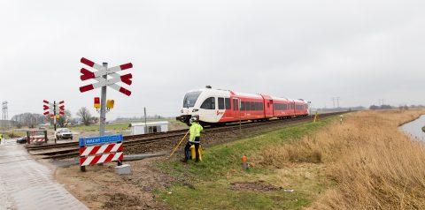 Spoorwegovergang De Vork, Groningen Sporzone