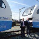 Cees Anker en Bert Boerman-trein Keolis
