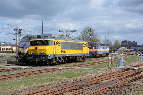 De NS-locomotief voordat Strukton Rail hem ombouwde tot werktrein, bron: Strukton Rail