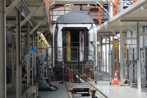 Een testkooi die Bombardier gebruikt voor nieuwe treinstellen, bron: Pilz