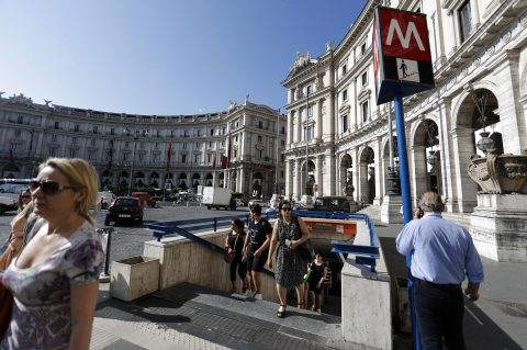 Metrostation Repubblica in Rome: foto: ANP