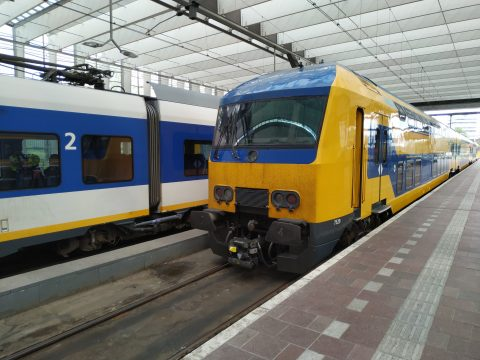 Een Intercitytrein op station Rotterdam Centraal