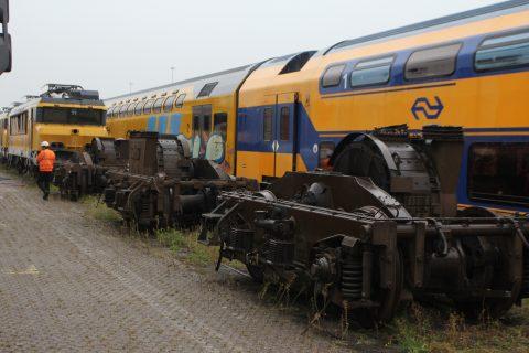 DDM treinstellen voor sloop in het westelijk havengebied Amsterdam