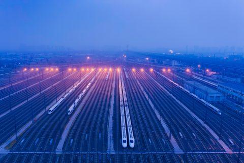 Hogesnelheidstreinen, foto: Hollandse Hoogte