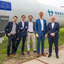 De oprichters van Hardt Hyperloop met uiterst rechts Kees Koolen