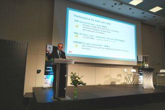 Luc Laroche van SNCF tijdens de Intelligent Rail Summit 2019