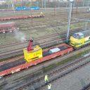 De trein die Infrabel inzet om ijzel te bestrijden, foto: Infrabel