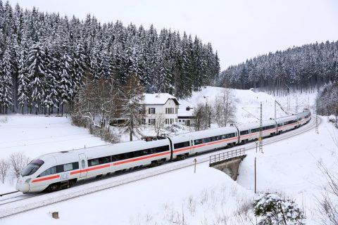 ICE T van DB in winters Beijeren