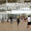 Het XL reisinformatiescherm op Rotterdam Centraal, foto: NS