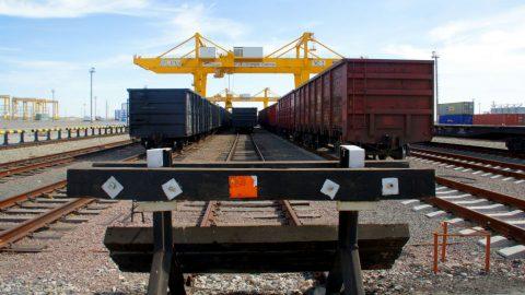 Khorgos Dry Port China spoor