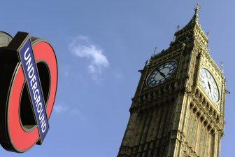 Een metrostation naast de Big Ben in Londen, foto: ANP
