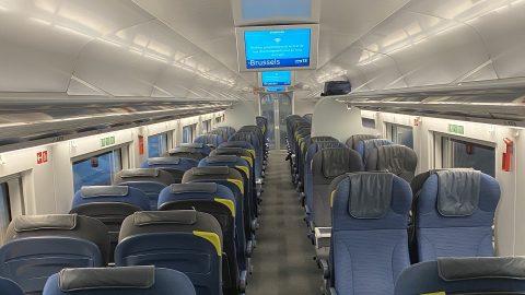 Lege Eurostar-trein naar Brussel