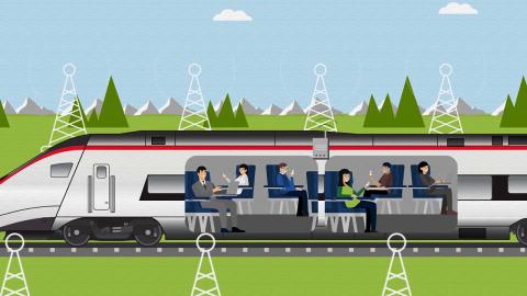 wifi-antennes in SBB trein