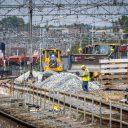 Werkzaamheden aan het spoor bij Utrecht, foto: ANP