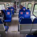 Een testtrein van de NS onderweg naar Groningen, foto: ANP