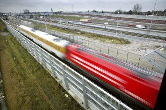 Een testrit die in 2012 met ERTMS op de HSL werd gedaan, bron: Hollandse Hoogte