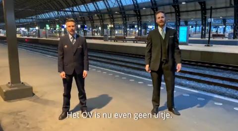 Machinist Stefan Tames en buschauffeur Bart van Leersum