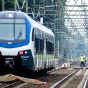 De stoptrein die bij een spoorwegovergang aan de Braakstraat betrokken was bij een ongeluk met een bakfiets waarbij meerdere doden en zwaargewonden zijn gevallen, foto: ANP