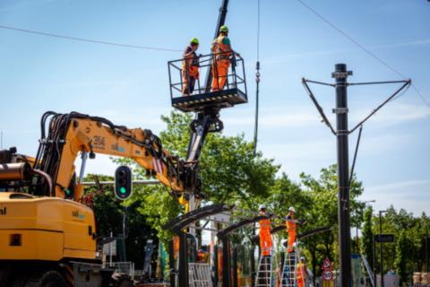 Vernieuwing-bovenleiding-tramlijn