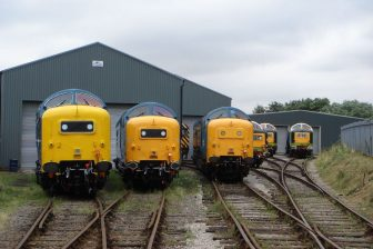 Deltic diesellocomotieven_Barrow_Hill
