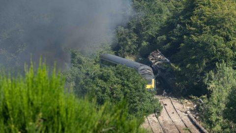 treinramp Stonehaven-Schotland