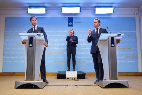 Persconferentie Rutte en De Jonge over corona-aanpak, foto: ANP