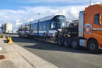 Transport van de 15G-trams van het GVB
