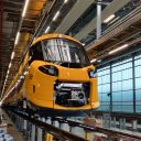 De Intercity Nieuwe Generatie in de onderhoudswerkplaats in Watergraafsmeer