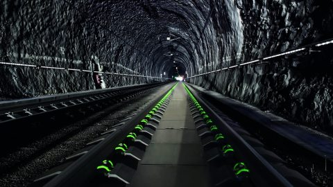 vossloh, spoormaterialen in tunnel